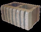 Камень стеновой рифленый