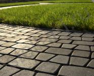 Вариант укладки тротуарной плитки Классико русто класса Стандарт от производителя