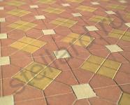 Вариант укладки тротуарной плитки шапка епикопа и квадрат