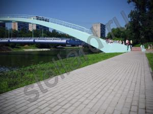 Тротуарная плитка при реконструкции Большого Черкизовского  пруда