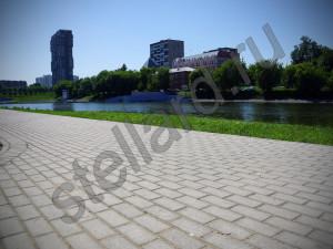 Брусчатка при реконструкции Большого Черкизовского  пруда