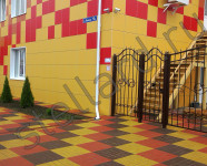 Брусчатка Престиж желтая, красная, коричневая, ТД Семейный, г. Тула
