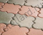Тротуарная плитка Клевер Стандарт серый и красный от Stellard вибропрессованная в Туле и Москве