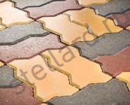 Тротуарная плитка волна желтая, серая вибропрессованная в Туле и Москве от Stellard