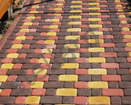 Вариант укладки тротуарной плитки старый город Stellard