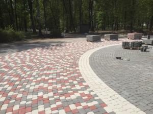 Тротуарная плитка Stellard на реконструкции городского фонтана в Новомосковске