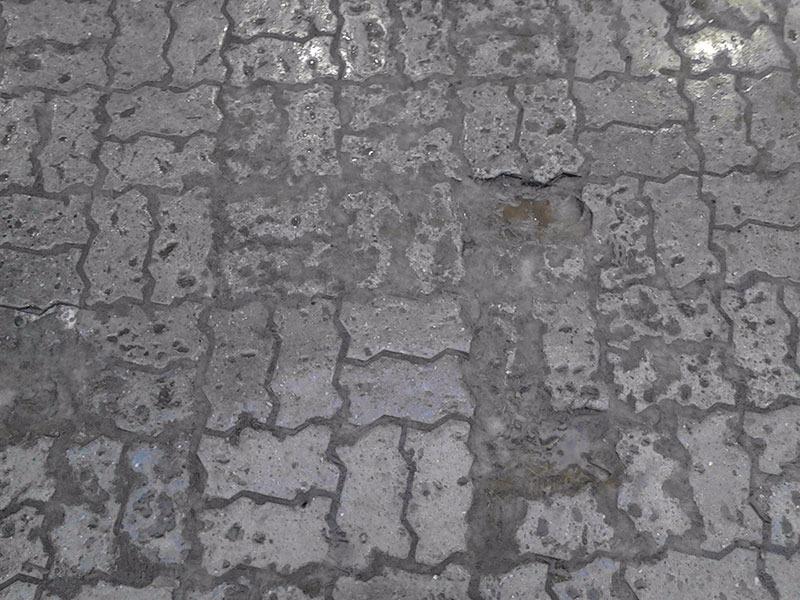 Вибролитая плитка на ул. Первомайской до замены