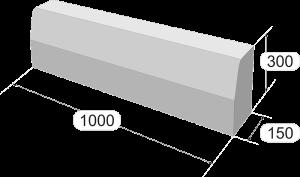 Размеры дорожного бордюрного камня