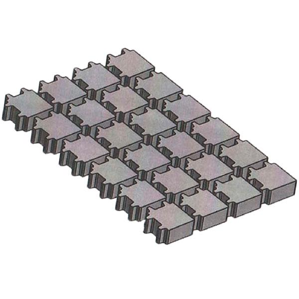 Вариант укладки с плиткой Тротуарная плитка Эко Квадрат