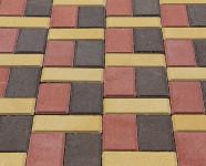 Фото укладки тротуарной плитки из трех цветов