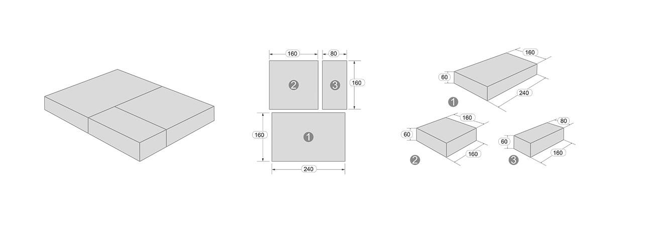 Размеры тротуарной плитки Новый го