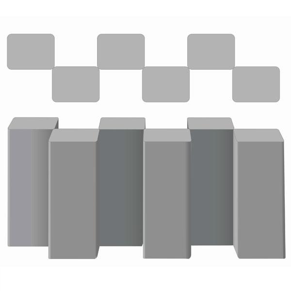 Вариант укладки с плиткой Бетонный прямоугольный столбик Палисад