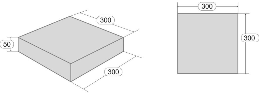 Размеры тротуарной плитки Квадрат300x300