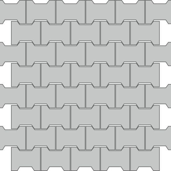 Вариант укладки с плиткой Тротуарная плитка Престиж Катушка