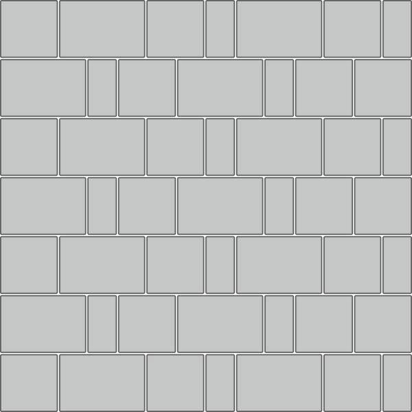 Вариант укладки с плиткой Тротуарная плитка Новый город СТАНДАРТ