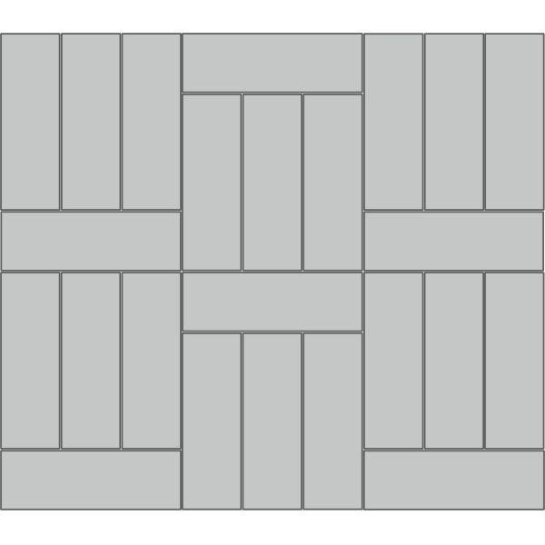 Вариант укладки с плиткой Тротуарная плитка Престиж Паркет
