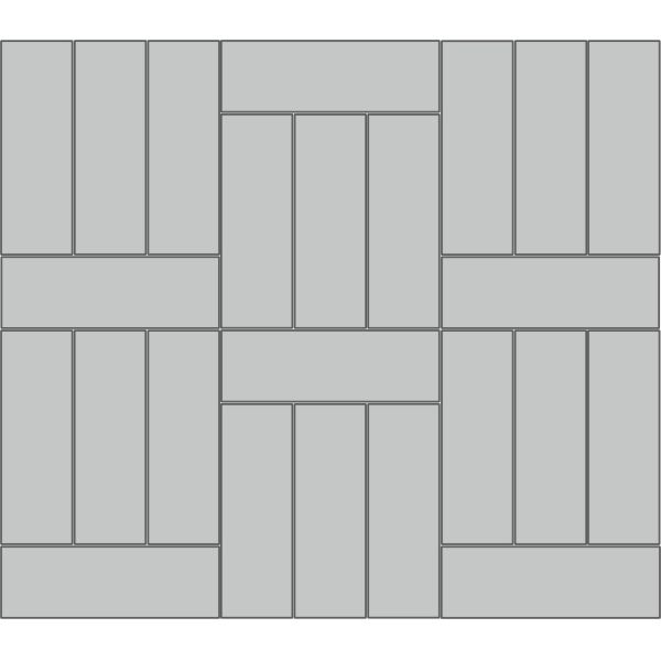 "Вариант укладки с плиткой Тротуарная плитка Премиум Эко  ""Паркет"""