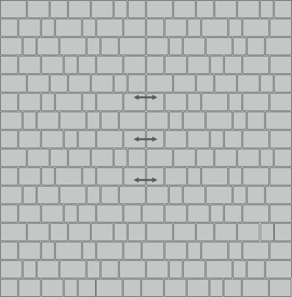 Вариант укладки с плиткой Премиум Эко «Рим»