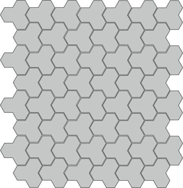 Вариант укладки с плиткой Тротуарная плитка Трилистник