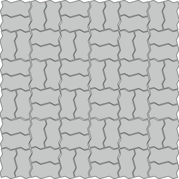 Вариант укладки с плиткой Камни мощения Волна 100