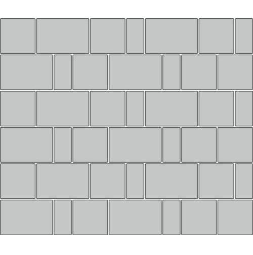 Вариант укладки с плиткой Тротуарная плитка Новый город Колормикс