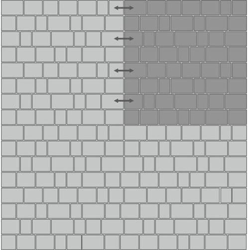Вариант укладки с плиткой Тротуарная плитка Престиж «Рим»