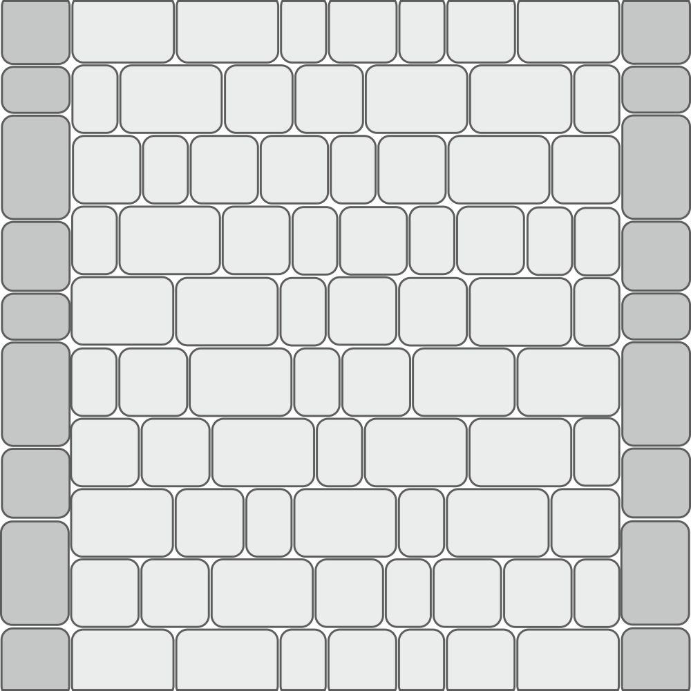 Схема укладки для тротуаров