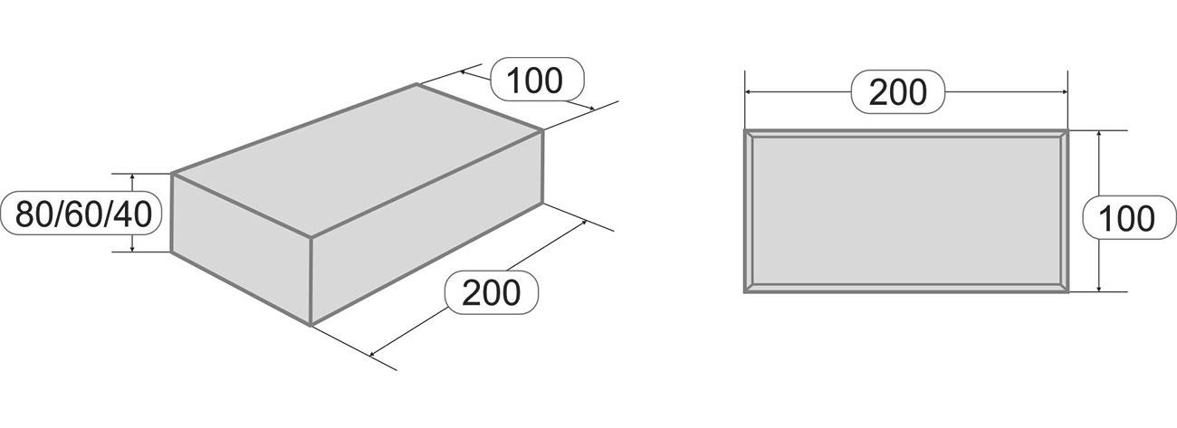 Размеры тротуарной плитки Брусчатка