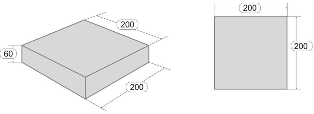 Размеры тротуарной плитки Квадрат