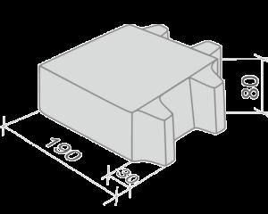 Эко квадрат - тротуарная плитка Stellard для парковок