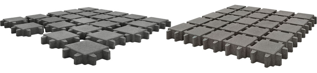 Вариант укладки тротуарной плитки Эко Квадрат