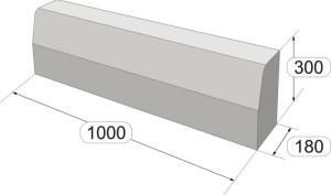 Размеры магистрального бордюра 100 300 180 Stellard