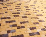 Тротуарная плитка Старый город желтый и коричневый - объект в Туле 2017 год