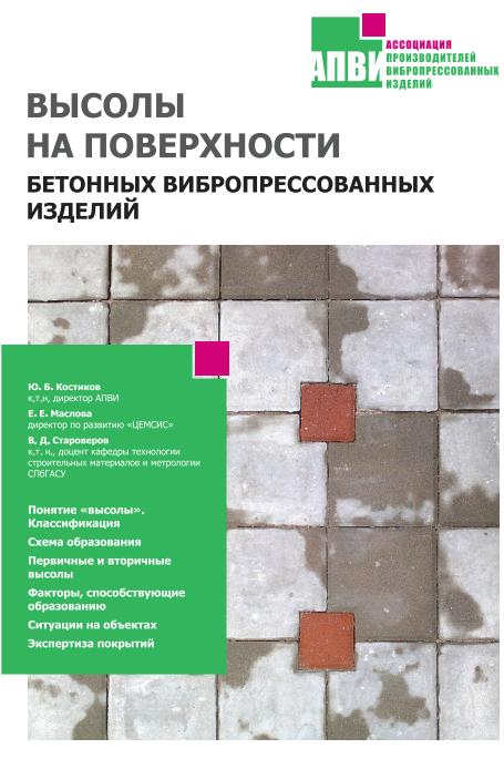 Пособие АПВИ - высолы на поверхности бетонных выбропрессованных изделий