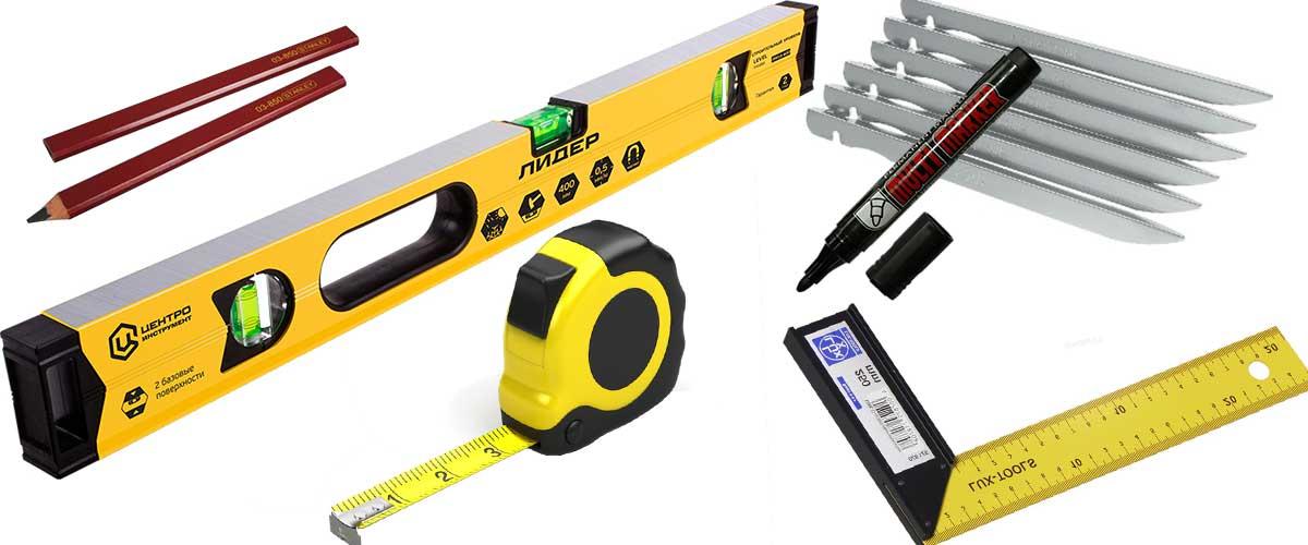 Измерительные инструменты для укладки брусчатки
