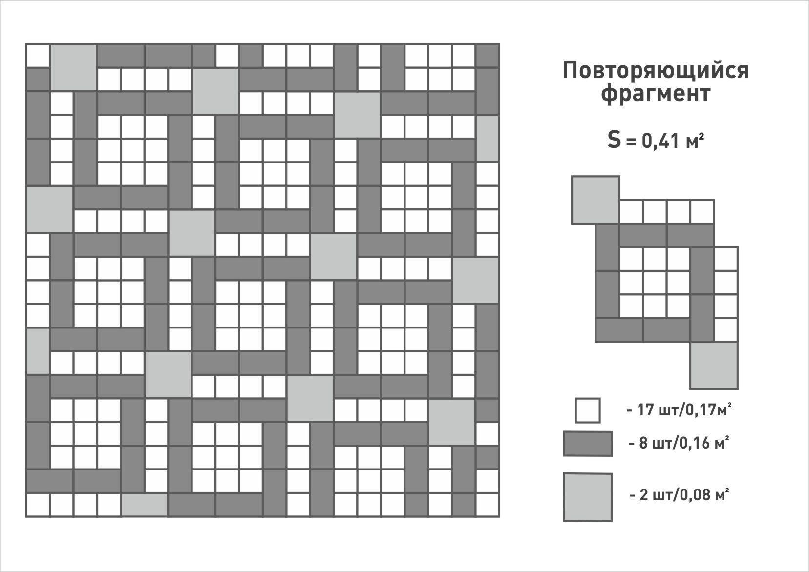 Схема укладки Игра квадратов